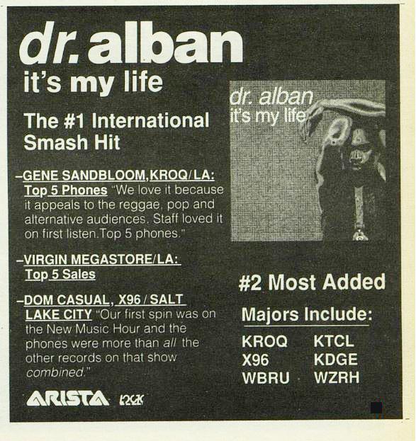 מודעת קידום ל-Dr. Alban – השבוע לפני 22 שנה